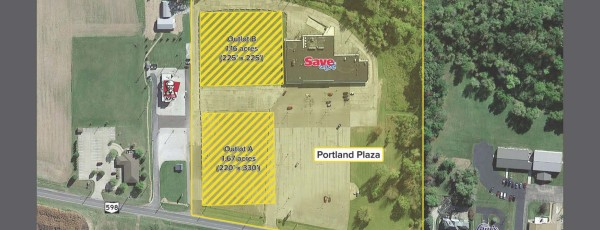 Portland Plaza In-Line Space for Lease & Outlot For Sale